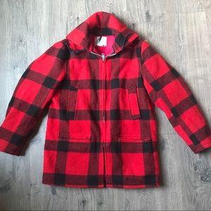 Vintage wool buffalo check jacket | L